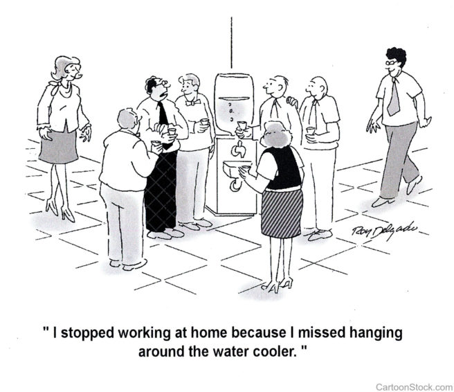 Image result for hanging around the water cooler